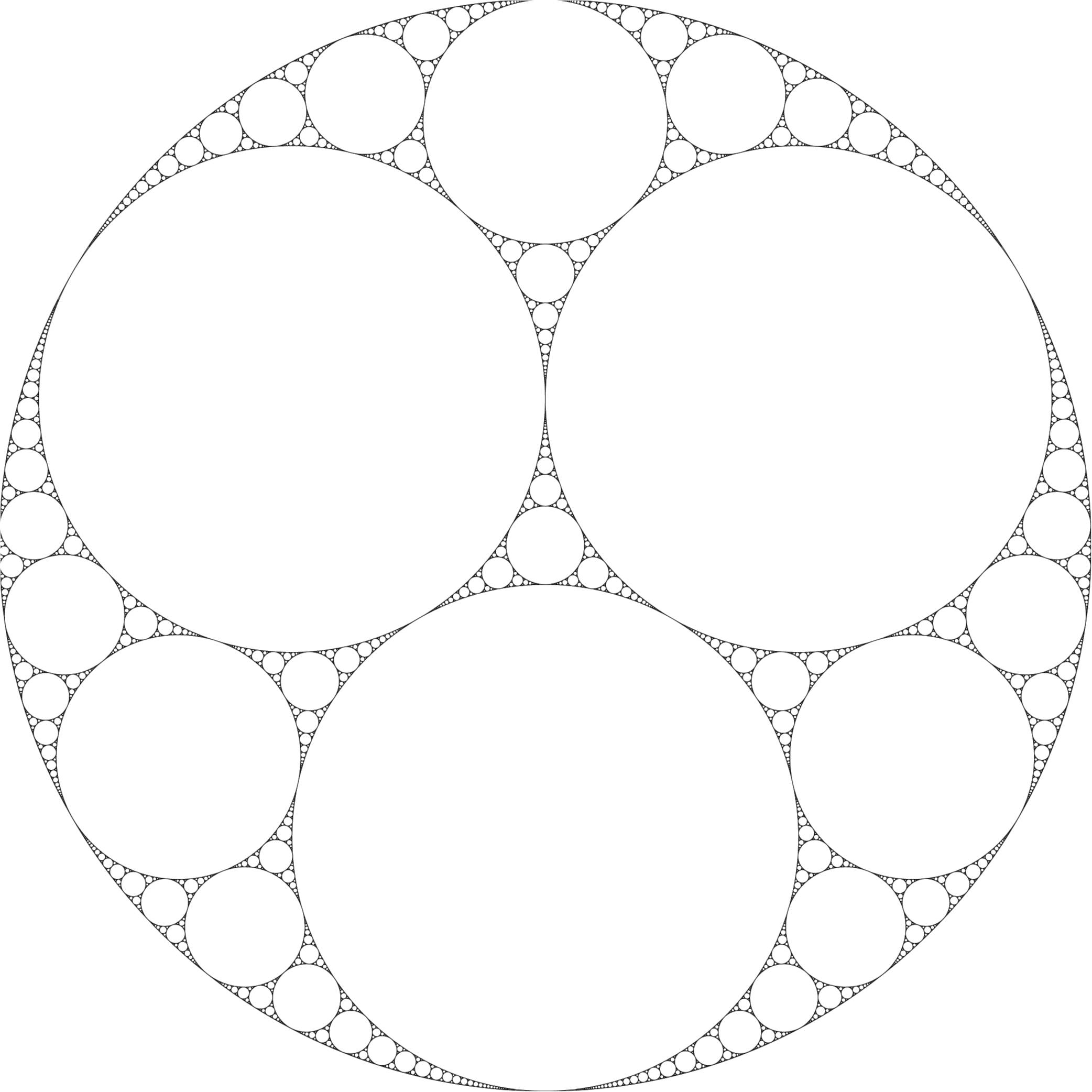 We derive an estimate of the fractal dimension of the Apollonian gasket in d dimensions.
